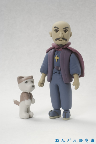 大友宗麟と、たれ耳お守り犬