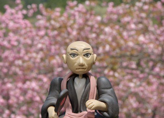 ぼたん桜とえぼし岳と立花道雪