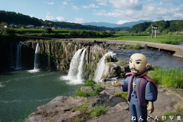原尻の滝と大友宗麟