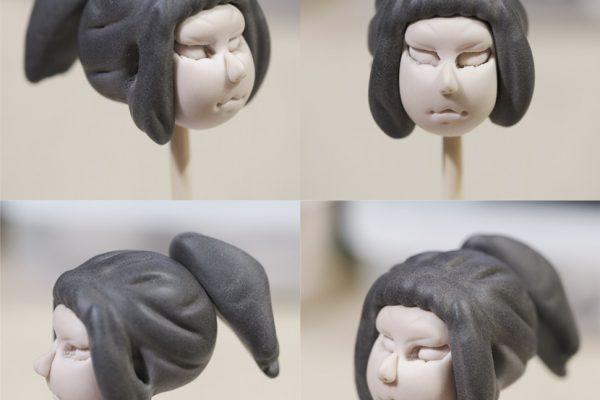 新作人形造形中