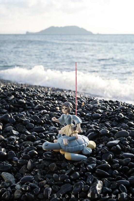 浦島太郎伝承と佐賀関黒ヶ浜のシイネツヒコ/ねんど人形昔ばなしの旅 写真とテキスト 大分市